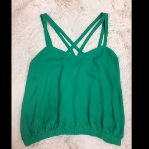 ASOS Green Strappy Sleeveless Tank Top